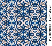 seamless vintage pattern in... | Shutterstock .eps vector #529915129