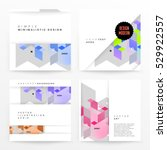 geometric background template... | Shutterstock .eps vector #529922557