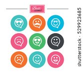 smile speech bubbles icons....