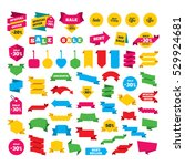 web stickers  banners and... | Shutterstock .eps vector #529924681