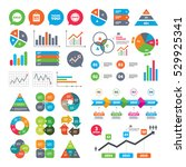 business charts. growth graph.... | Shutterstock .eps vector #529925341