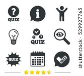 quiz icons. speech bubble with... | Shutterstock .eps vector #529927765