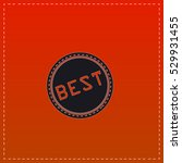 best icon vector. black flat...   Shutterstock .eps vector #529931455