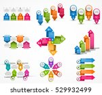 collection infographics. design ... | Shutterstock .eps vector #529932499