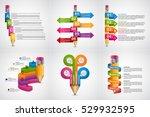 educational infographics... | Shutterstock .eps vector #529932595
