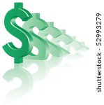 growing dollar | Shutterstock .eps vector #52993279