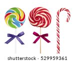 Colorful Lollipops Isolated On...
