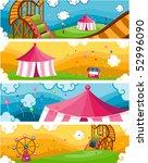 theme park banners   vector | Shutterstock .eps vector #52996090