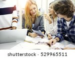 group of male and female... | Shutterstock . vector #529965511