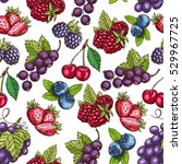 berries pattern. vector... | Shutterstock .eps vector #529967725