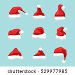 santa hat vector symbol... | Shutterstock .eps vector #529977985