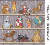 christmas set of children's...   Shutterstock .eps vector #529979587