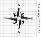 compass    black vector icon   Shutterstock .eps vector #529981114