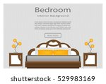 web banner bedroom interior... | Shutterstock .eps vector #529983169