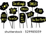 props for photos on weddings... | Shutterstock .eps vector #529985059