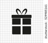 gift    black vector icon