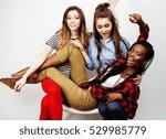 diverse multi nation girls...   Shutterstock . vector #529985779