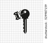 key car    black vector icon | Shutterstock .eps vector #529987159