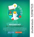 set of flat design illustration ... | Shutterstock .eps vector #529987525