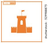 vector icon fortress | Shutterstock .eps vector #529988875