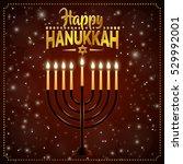 happy hanukkah background.... | Shutterstock .eps vector #529992001