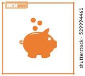 vector illustration of piggy... | Shutterstock .eps vector #529994461