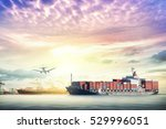 logistics and transportation of ... | Shutterstock . vector #529996051