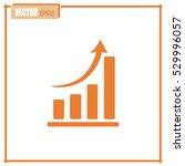 vector icon growth diagram  | Shutterstock .eps vector #529996057