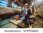 safety at work. welding and... | Shutterstock . vector #529996801