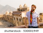 tourist with turban in amer... | Shutterstock . vector #530001949