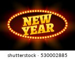 neon retro billboard new year... | Shutterstock .eps vector #530002885