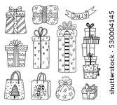 Set Of Hand Drawn Christmas An...