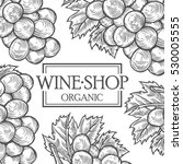 organic wine grapes shop berry... | Shutterstock .eps vector #530005555