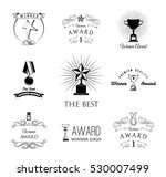trophies and awards banners ... | Shutterstock .eps vector #530007499