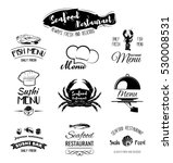 seafood restaurant. the menu... | Shutterstock .eps vector #530008531