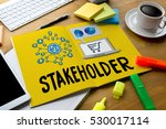 Small photo of engagement concept , stakeholders, strategy mind map, business , Partner Deal Stakeholder Contributor , Business management