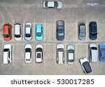 empty parking lots  aerial view. | Shutterstock . vector #530017285