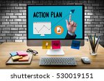 action plan strategy vision... | Shutterstock . vector #530019151