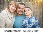 happy young mixed race family... | Shutterstock . vector #530019709
