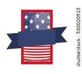 isolated usa flag inside frame...   Shutterstock .eps vector #530020915