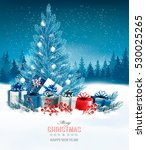 holiday background with a blue... | Shutterstock .eps vector #530025265
