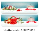 two christmas banners with... | Shutterstock .eps vector #530025817