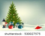 retro holiday background with a ... | Shutterstock .eps vector #530027575