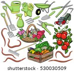 set of vector gardening clip... | Shutterstock .eps vector #530030509
