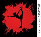 yoga pose designed on splatter... | Shutterstock .eps vector #530037607