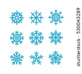different vector snowflakes... | Shutterstock .eps vector #530043289