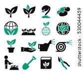 plant  grain icon set | Shutterstock .eps vector #530044459