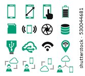 phone specification icon set | Shutterstock .eps vector #530044681