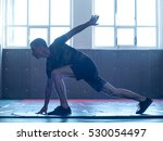 young man training before... | Shutterstock . vector #530054497