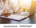 doctor working a  health check  ... | Shutterstock . vector #530055667